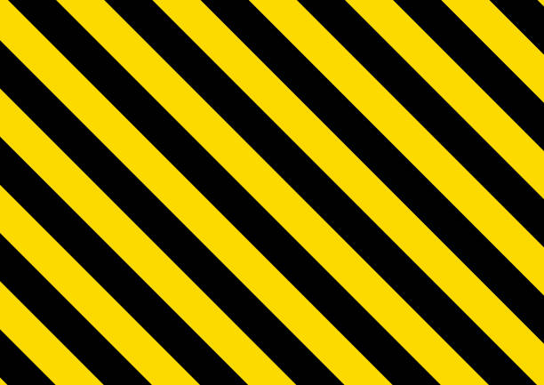 Black and yellow striped background. Vector illustration Black and yellow striped background. Vector illustration diagonal stock illustrations