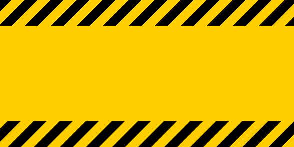 Vetores de Linha De Aviso Amarelo E Preto Listrado Fundo Retangular Amarelo E Preto Listras Na Diagonal e mais imagens de Abstrato