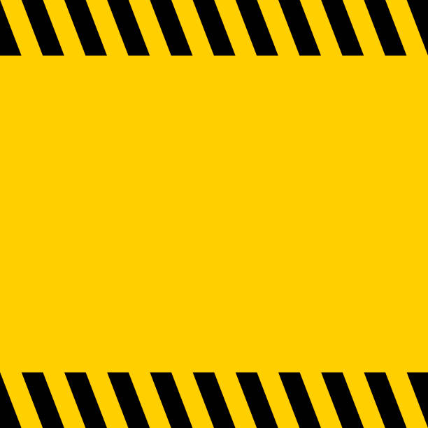 Black and yellow warning line striped square title background, vector sign background for warning notifications, template important messages Black and yellow warning line striped square title background, vector sign background for warning notifications, template for important messages tape stock illustrations
