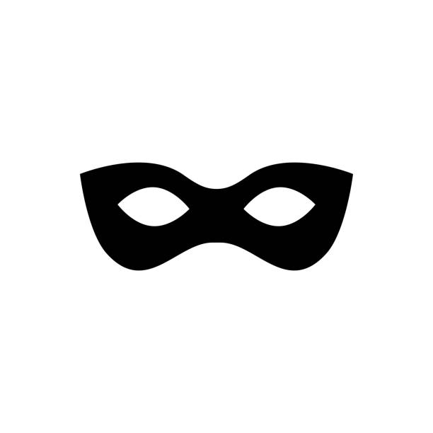 Black anonymous mask vector icon isolated on white background Black anonymous mask vector icon isolated on white background bandit stock illustrations