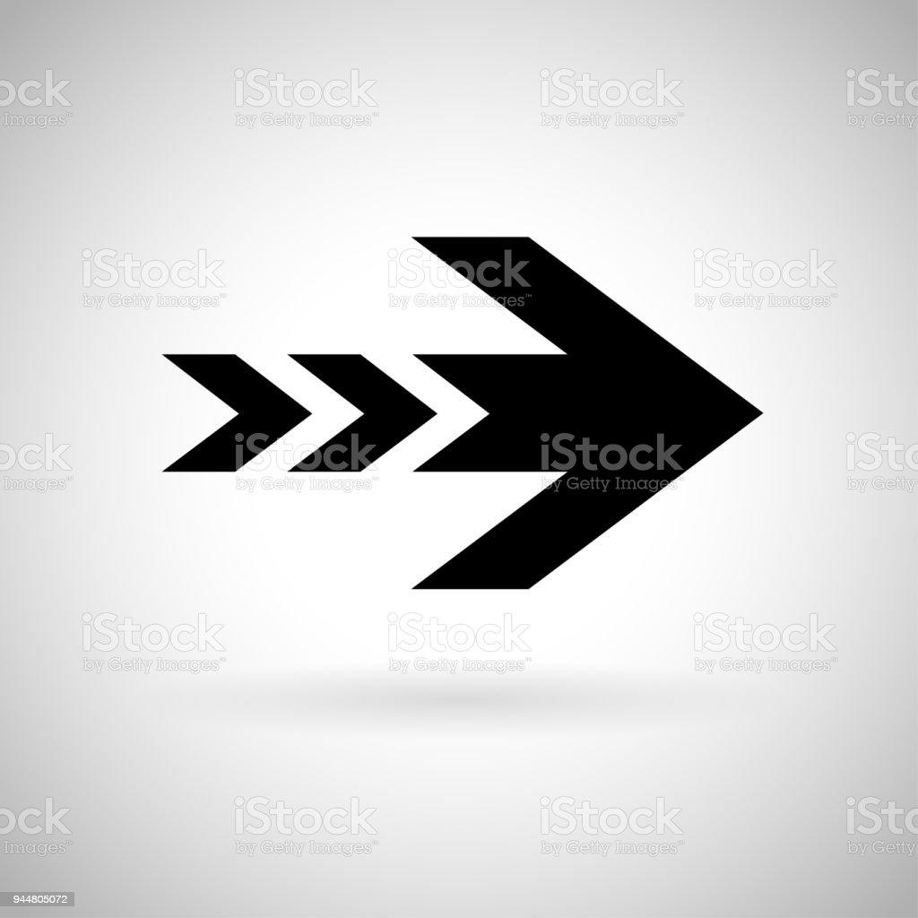 Ilustración de Flecha Negra Señal De Velocidad Rápida y más banco de ...