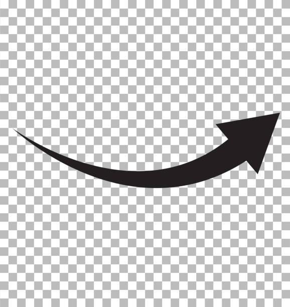 black arrow icon on transparent background. flat style. arrow logo concept. arrow icon for your web site design, logo, app, UI. arrow indicated the direction symbol. curved arrow sign. black arrow icon on transparent background. flat style. arrow logo concept. arrow icon for your web site design, logo, app, UI. arrow indicated the direction symbol. curved arrow sign. curve stock illustrations