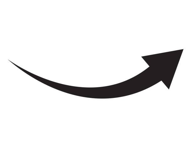 black arrow icon on white background. flat style. arrow icon for your web site design, logo, app, UI. arrow indicated the direction symbol. curved arrow sign. black arrow icon on white background. flat style. arrow icon for your web site design, logo, app, UI. arrow indicated the direction symbol. curved arrow sign. curve stock illustrations