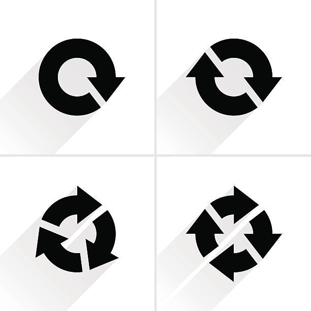 Black arrow loop, refresh, reload, rotation icon – Vektorgrafik