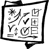 Black arrows symbols white background. Sketch. vector set