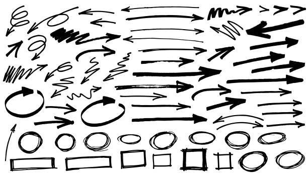 black arrows white background vector art illustration