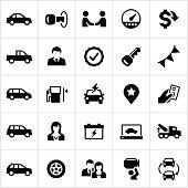 Black Auto Dealership Icons