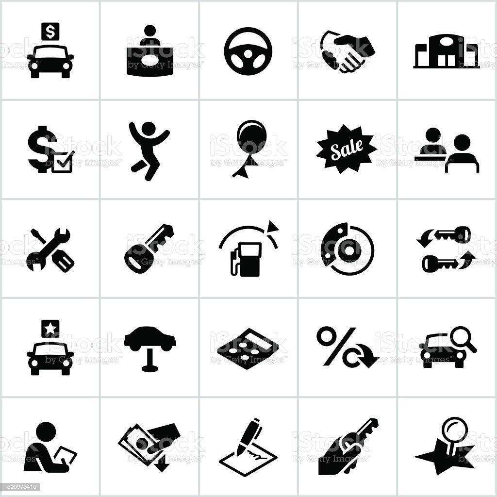 Black Automotive Verkauf Symbole Stock Vektor Art und mehr Bilder ...