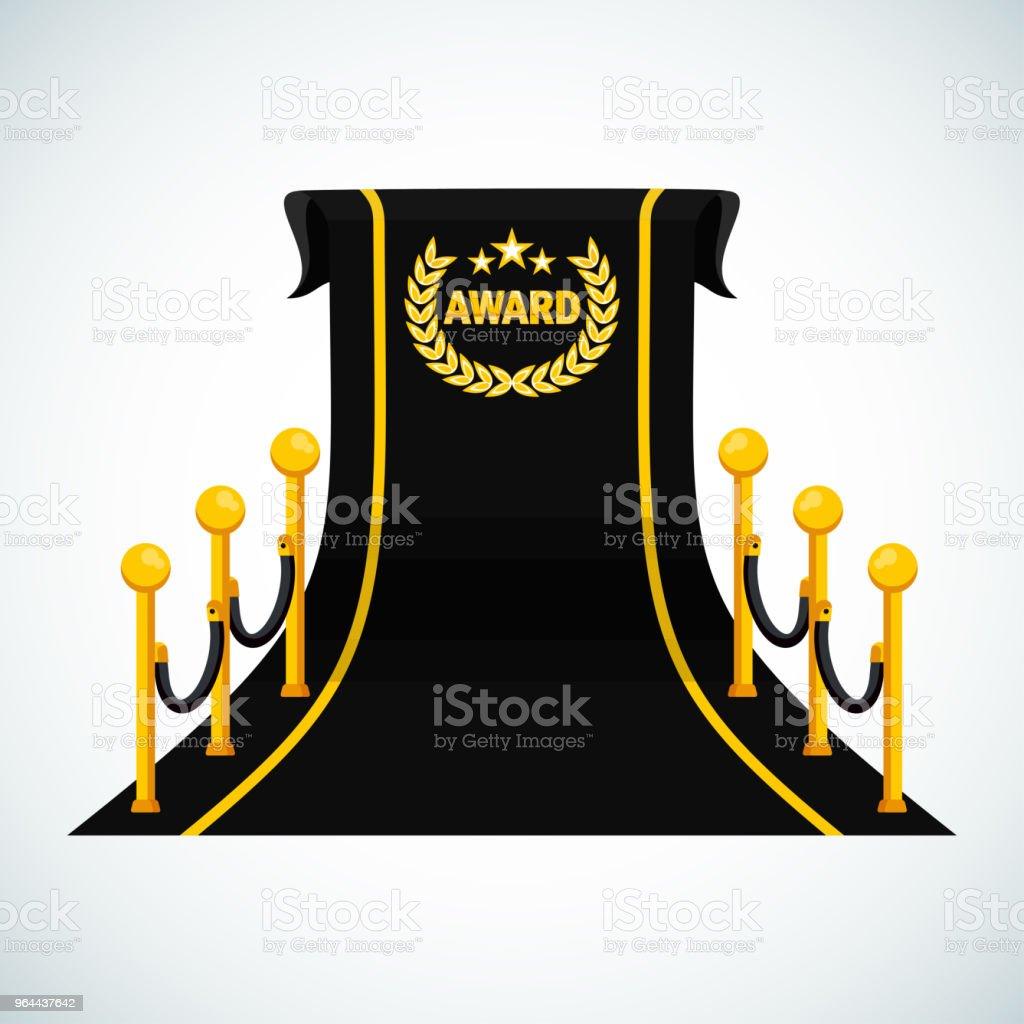 modelo de cartaz do prêmio preto tapete - Vetor de Abstrato royalty-free