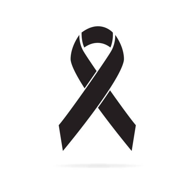 ilustraciones, imágenes clip art, dibujos animados e iconos de stock de icono de conciencia negra - cáncer tumor