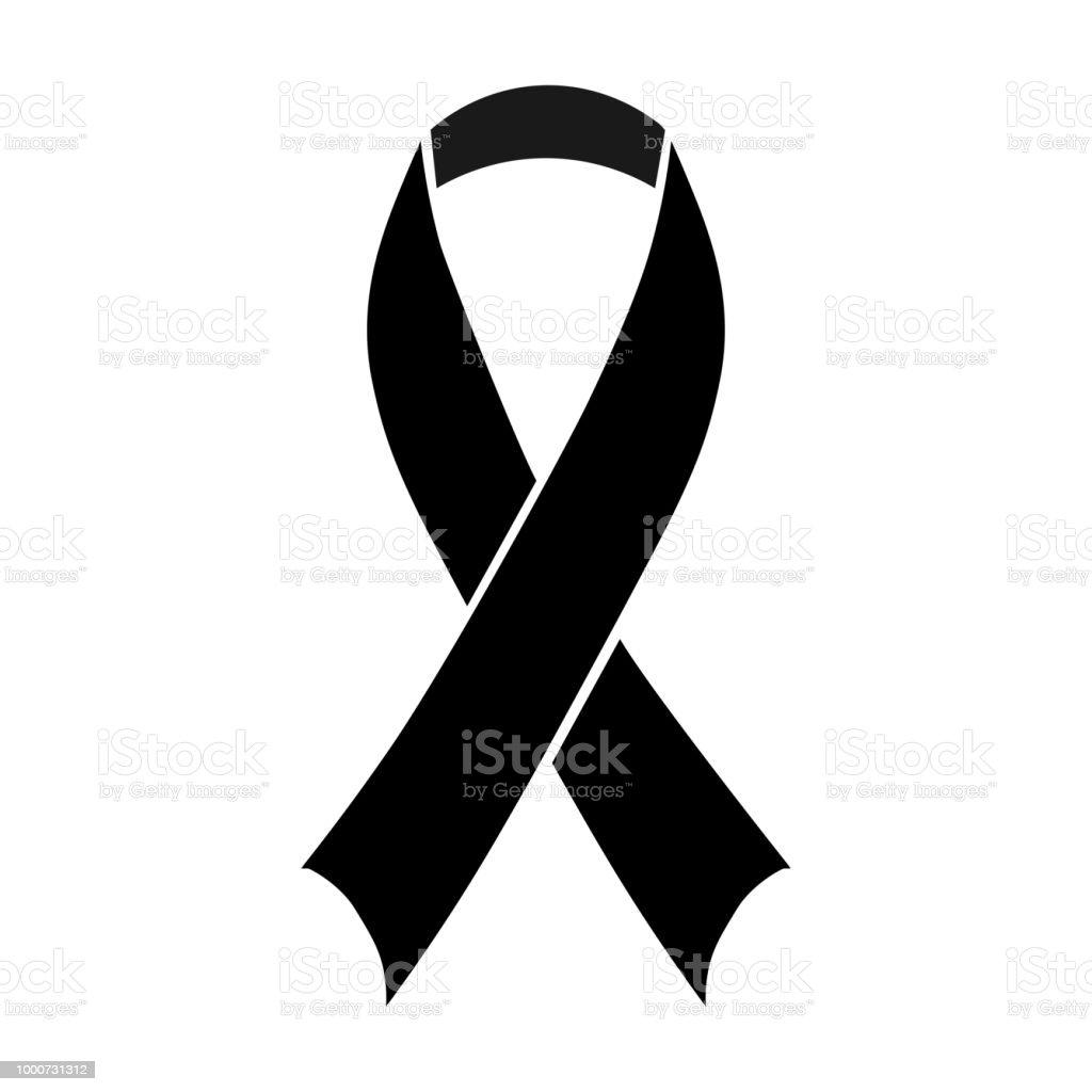 black awareness ribbon stock vector art more images of aids rh istockphoto com Transparent Background Awareness Ribbons Us Cancer Awareness Ribbon Drawings