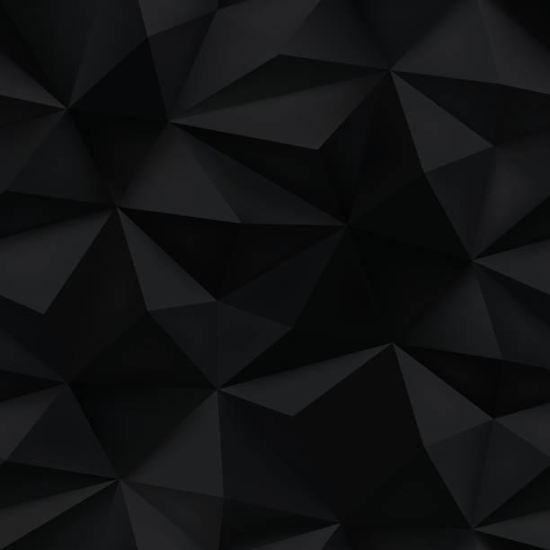 ilustraciones, imágenes clip art, dibujos animados e iconos de stock de fondo negro. arrugados textura abstracto triángulo. - fondos arrugados