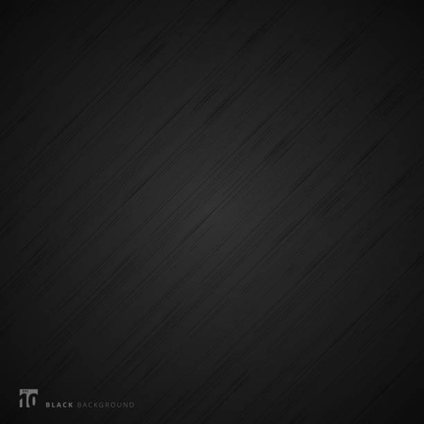black background and texture. abstract realistic metal fiber. - чёрный цвет stock illustrations
