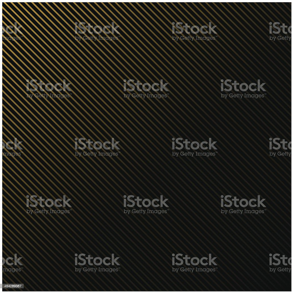 Black background in gold stripes vector art illustration
