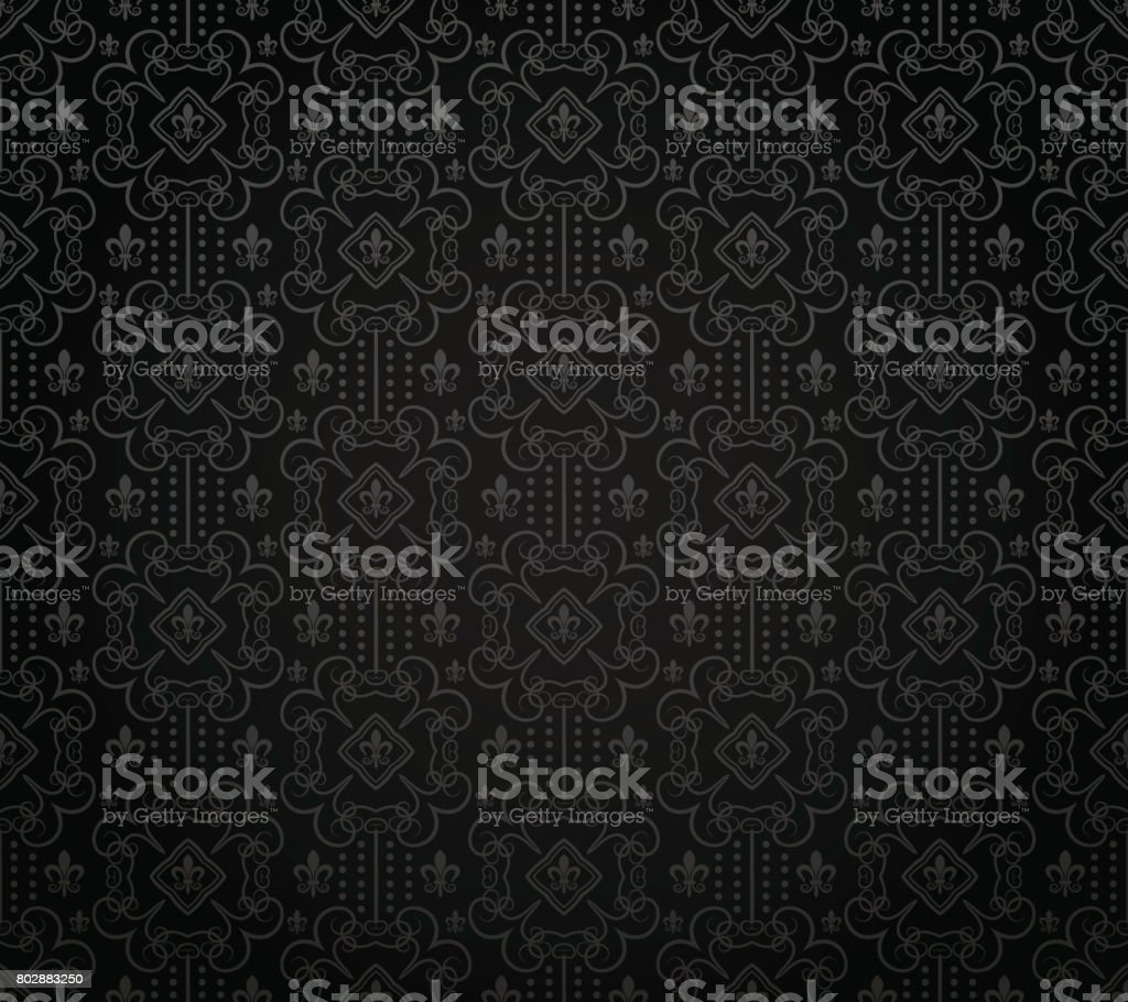 Black background pattern vector art illustration