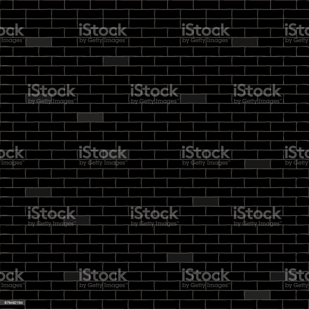 Black background with bricks. Vector illustration. vector art illustration