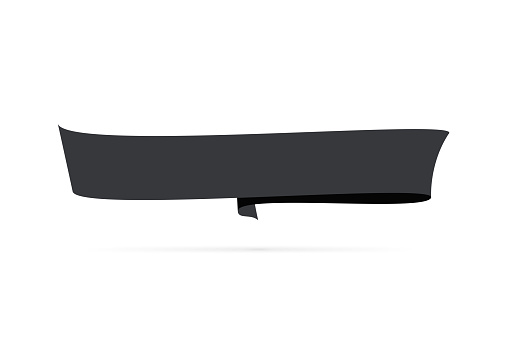 Black banner - Design Element on white background