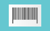 black barcode on white paper sticker for pattern and design,vector illustration