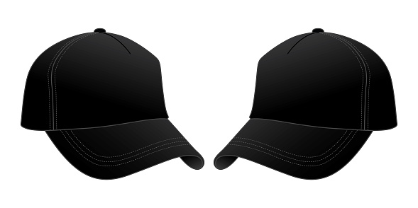 Black Baseball Cap Design Vector