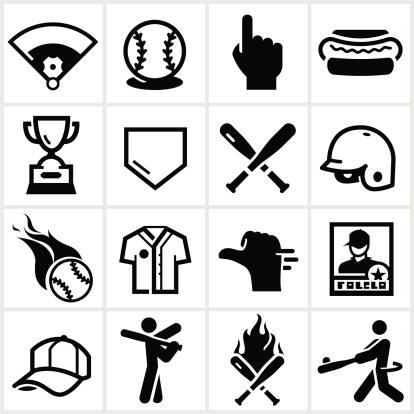 Black Baseball Icons