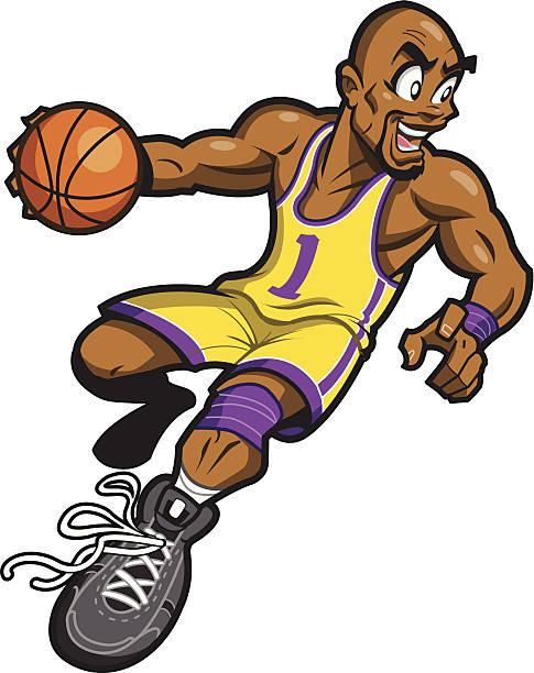 Black Basketball Player vector art illustration