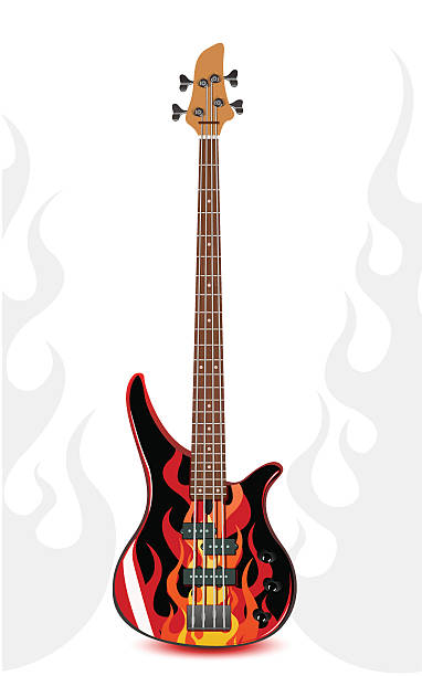 Royalty Free Bass Guitar Clip Art, Vector Images ...