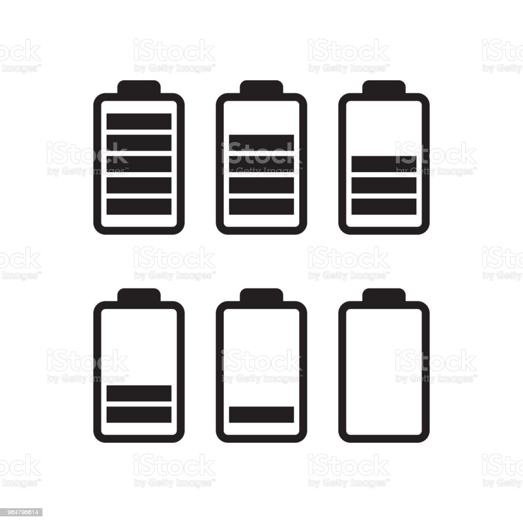 Black battery running out of charge royalty-free black battery running out of charge stock vector art & more images of acid