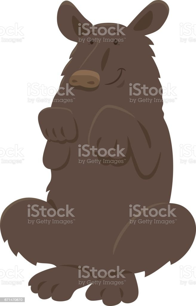 black bear animal character vector art illustration