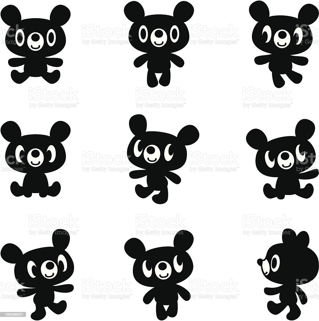 Black bear royalty-free black bear stock vector art & more images of animal