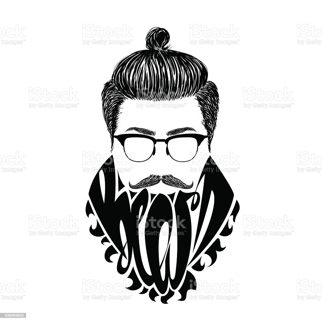 Black Beard Stock Vector Art & More Images of Adult 539363800 | iStock