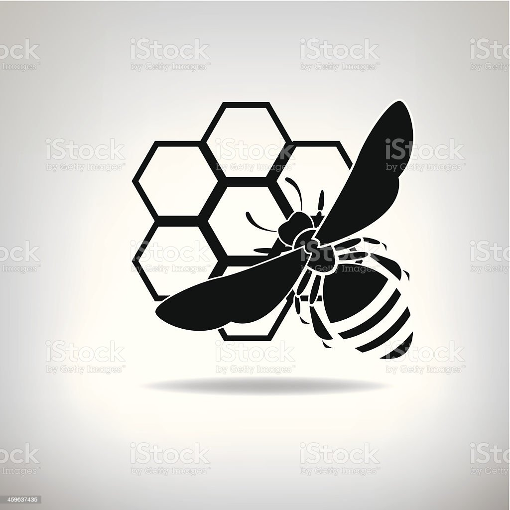 Black Bienen und Honig – Vektorgrafik