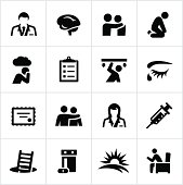Black Behavioral Health Icons