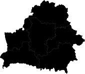 Black Belarus map