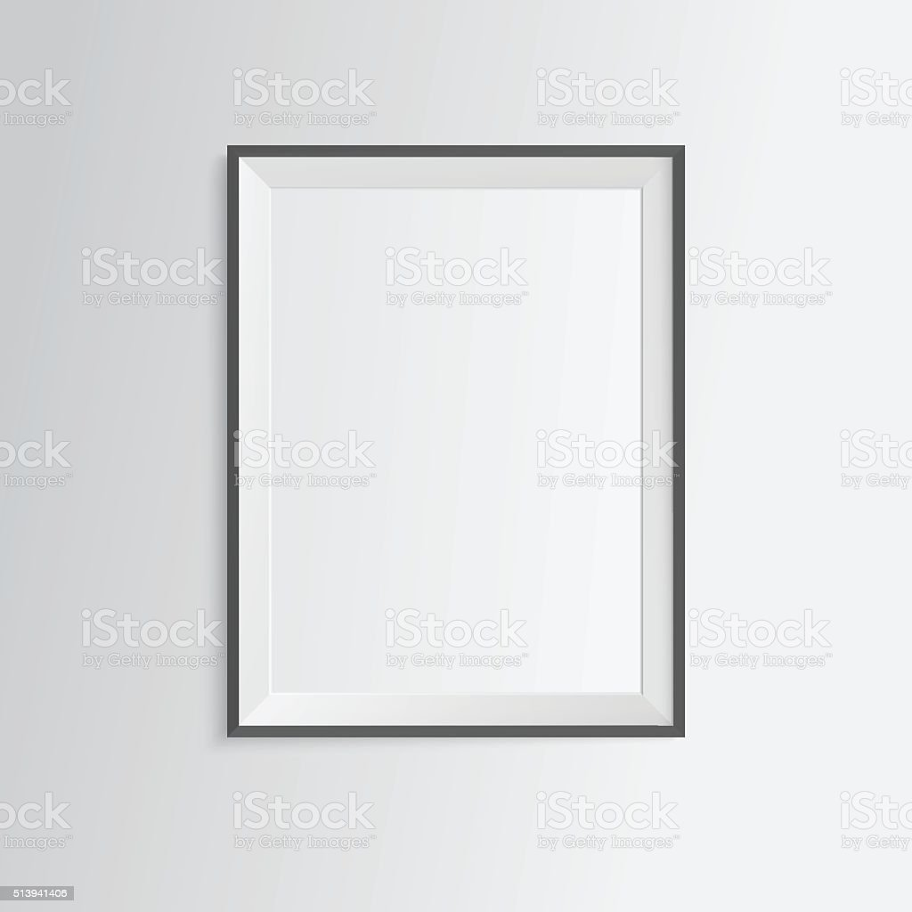 82c030564ac Black Blank Frame On White Wall Stock Vector Art   More Images of ...