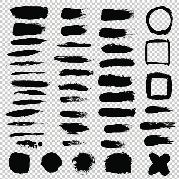 Black Blot Set vector art illustration