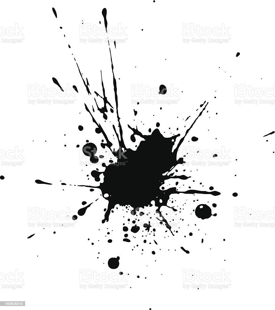 Black blotch vector art illustration