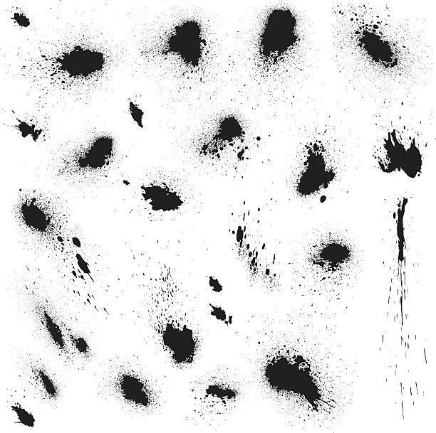 ilustrações de stock, clip art, desenhos animados e ícones de blots e salpicos de tinta preta. abstrato elementos de grunge estilo. - lian empty