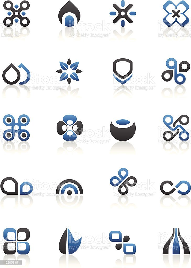 Black blue and white Design elements and graphics royalty-free stock vector art