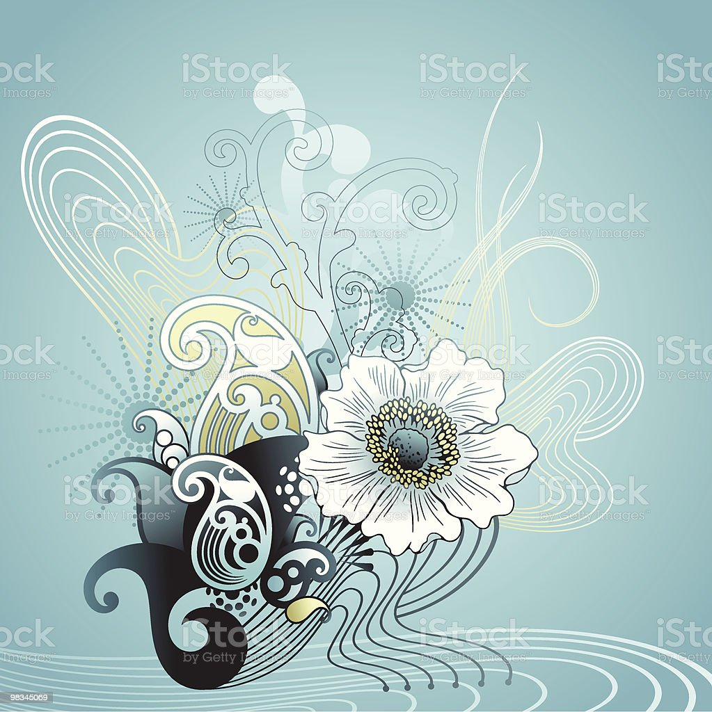 Black & Blue royalty-free black blue stock vector art & more images of abstract