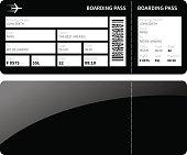 Black boarding card