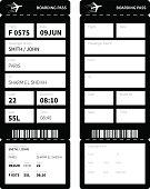 Black boarding card