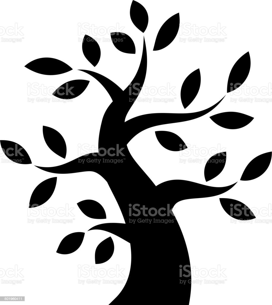 Black Bold Tree icon royalty-free stock vector art