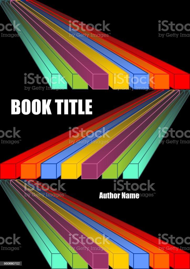 Ilustración de Cubierta De Libro Negro Con Formas De Diagonales ...