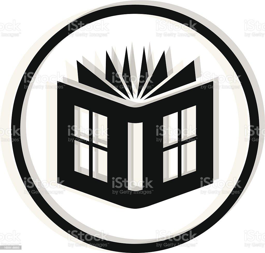 black book icon royalty-free stock vector art