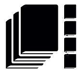 Black Book Icons. Vector Pictograms Isolated