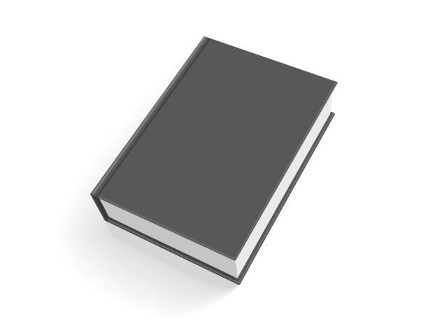 illustrations, cliparts, dessins animés et icônes de black book avec couverture épaisse isolée sur fond blanc - ellen page