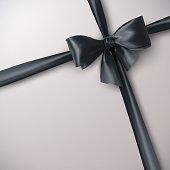 Black Bow And Ribbon.
