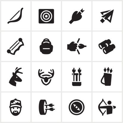 Black Bow Hunting Icons