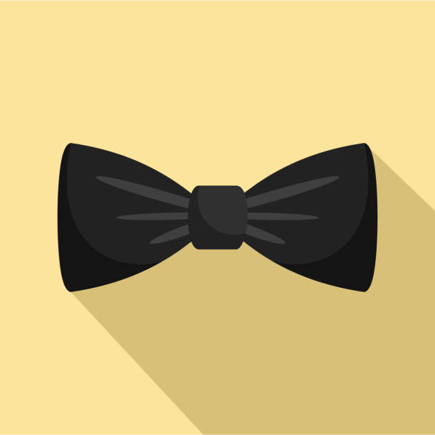 ilustrações, clipart, desenhos animados e ícones de ícone de laço preto, estilo simples - baile de graduação