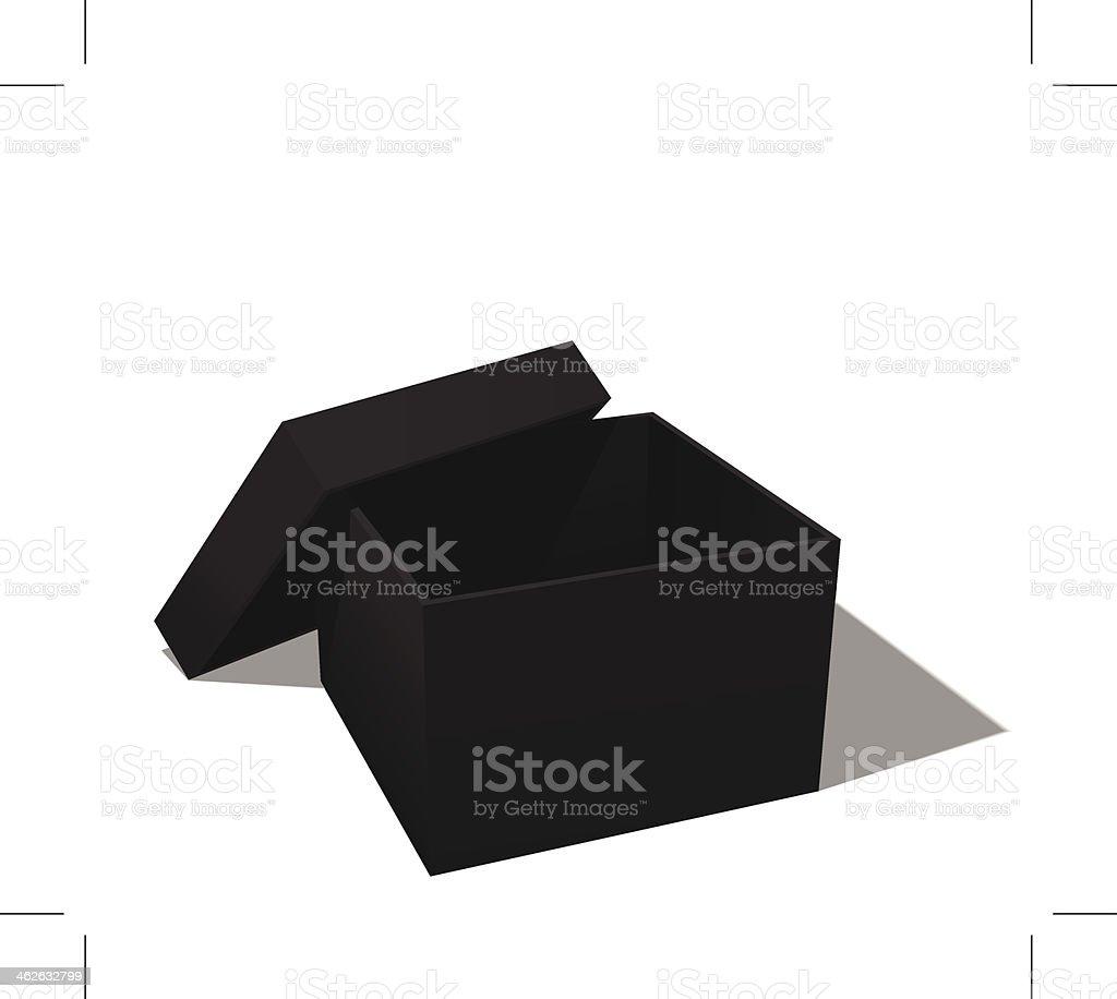 black box vector art illustration